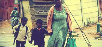 local family in Liberia