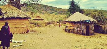 Massai and their house