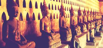 Buddha statues in Laos