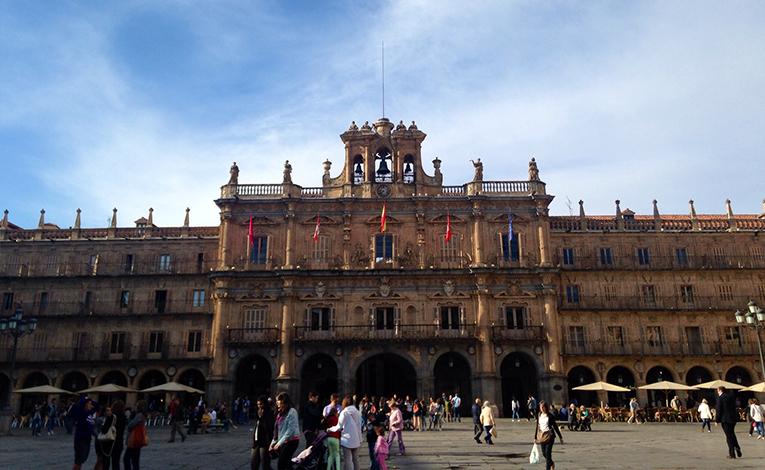 View of La Plaza Mayor in Spain