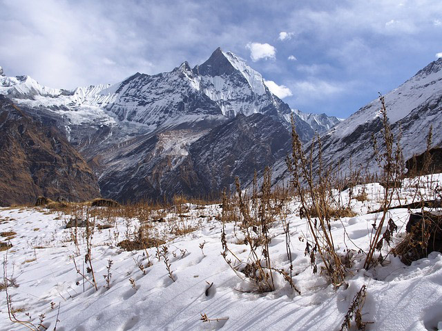 Basecamp in the Himalayas, Nepal