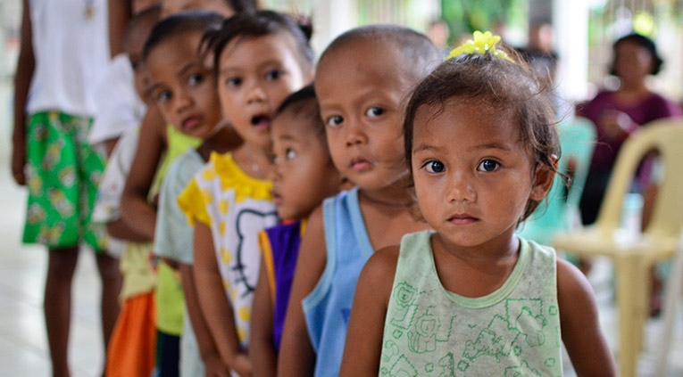 Survivor kids of typhoon Haiyan