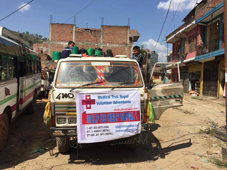 Relief truck in Nepal