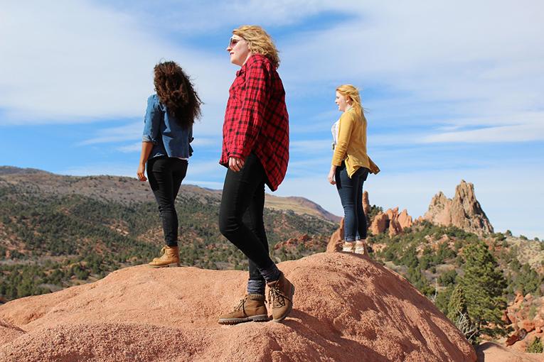 Friends having an adventure