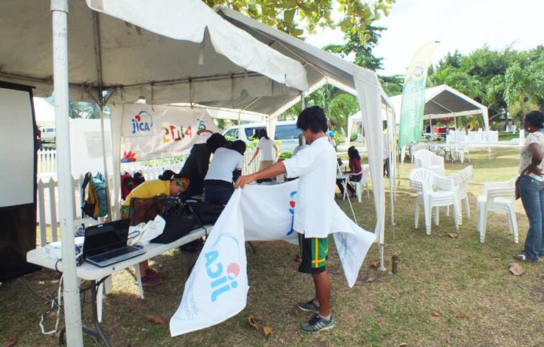 Volunteer at a community health fair in the Caribbean